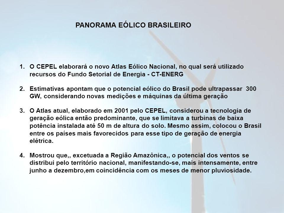 PANORAMA EÓLICO BRASILEIRO
