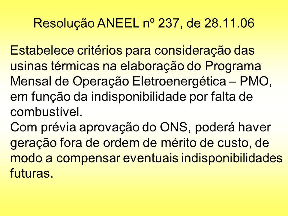 Resolução ANEEL nº 237, de 28.11.06