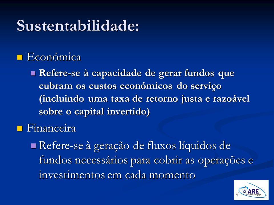 Sustentabilidade: Económica Financeira