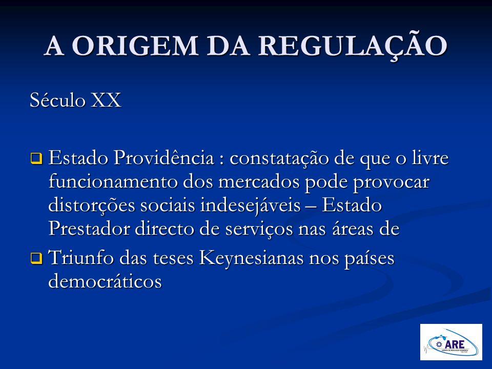 A ORIGEM DA REGULAÇÃO Século XX