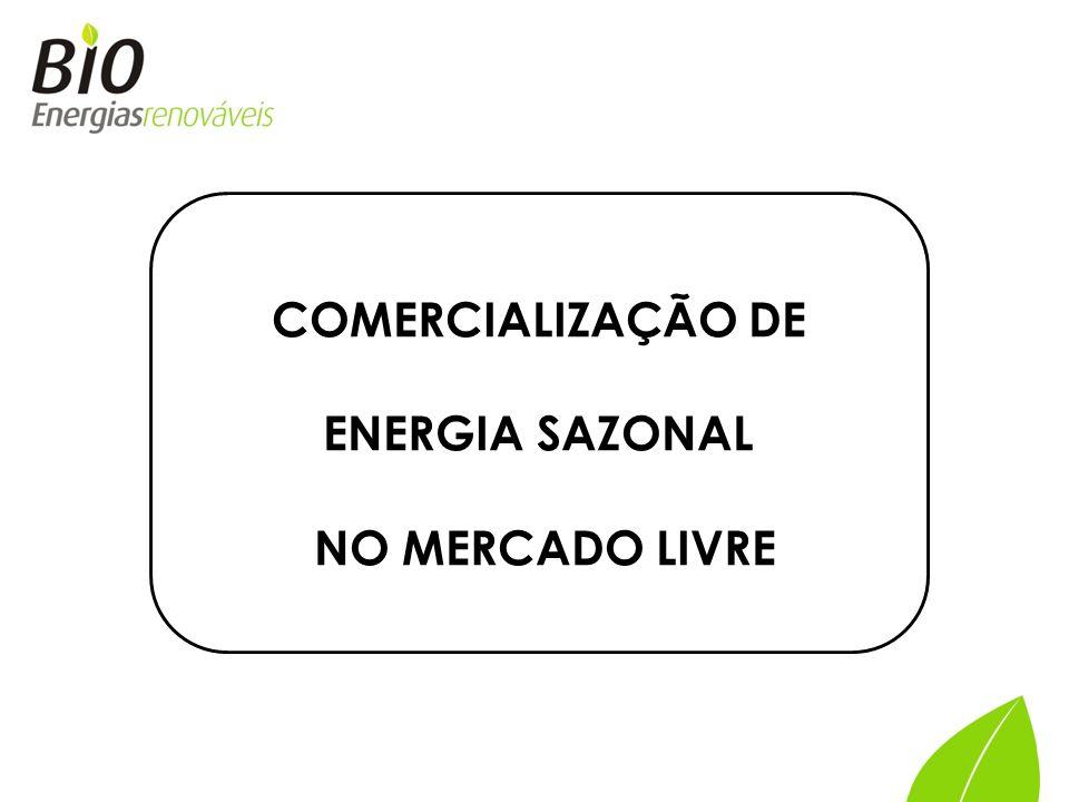 COMERCIALIZAÇÃO DE ENERGIA SAZONAL