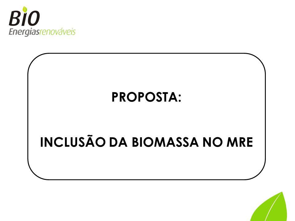 INCLUSÃO DA BIOMASSA NO MRE
