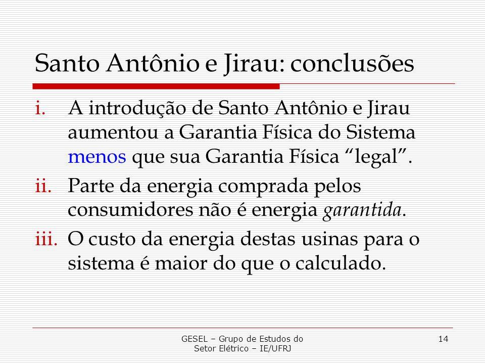 Santo Antônio e Jirau: conclusões