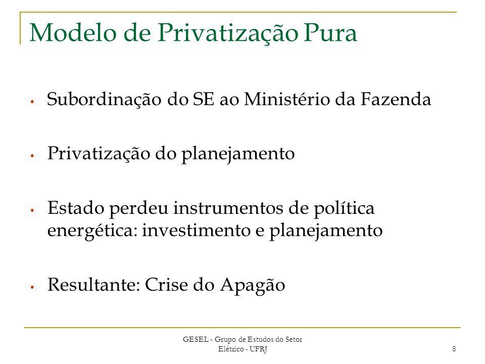 Modelo de Privatização Pura