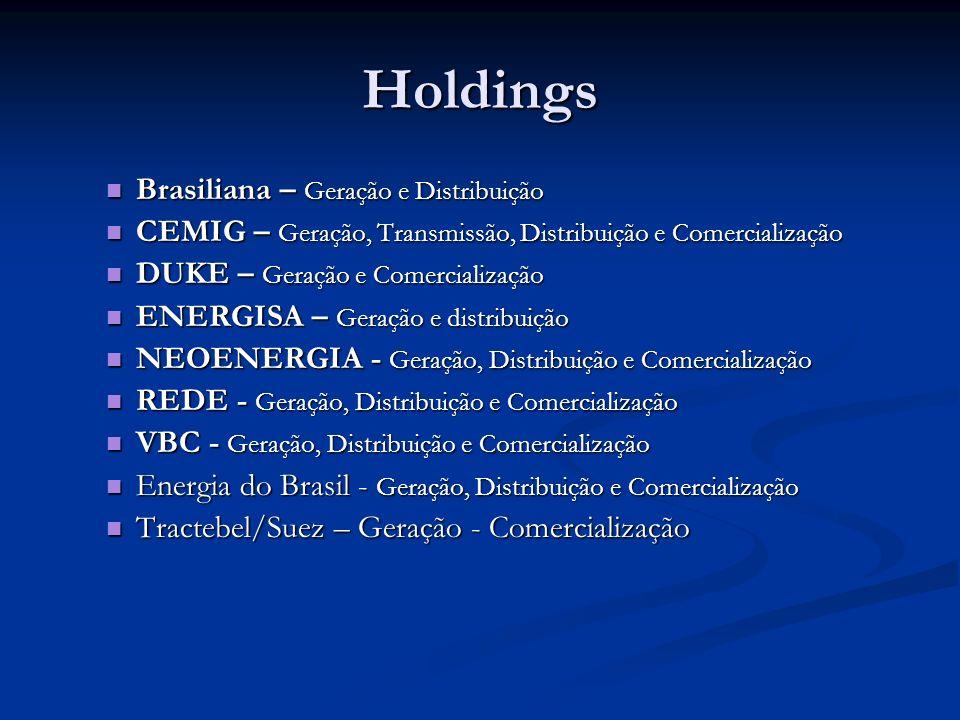 Holdings Brasiliana – Geração e Distribuição