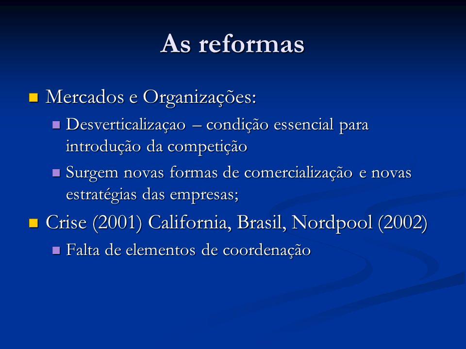 As reformas Mercados e Organizações: