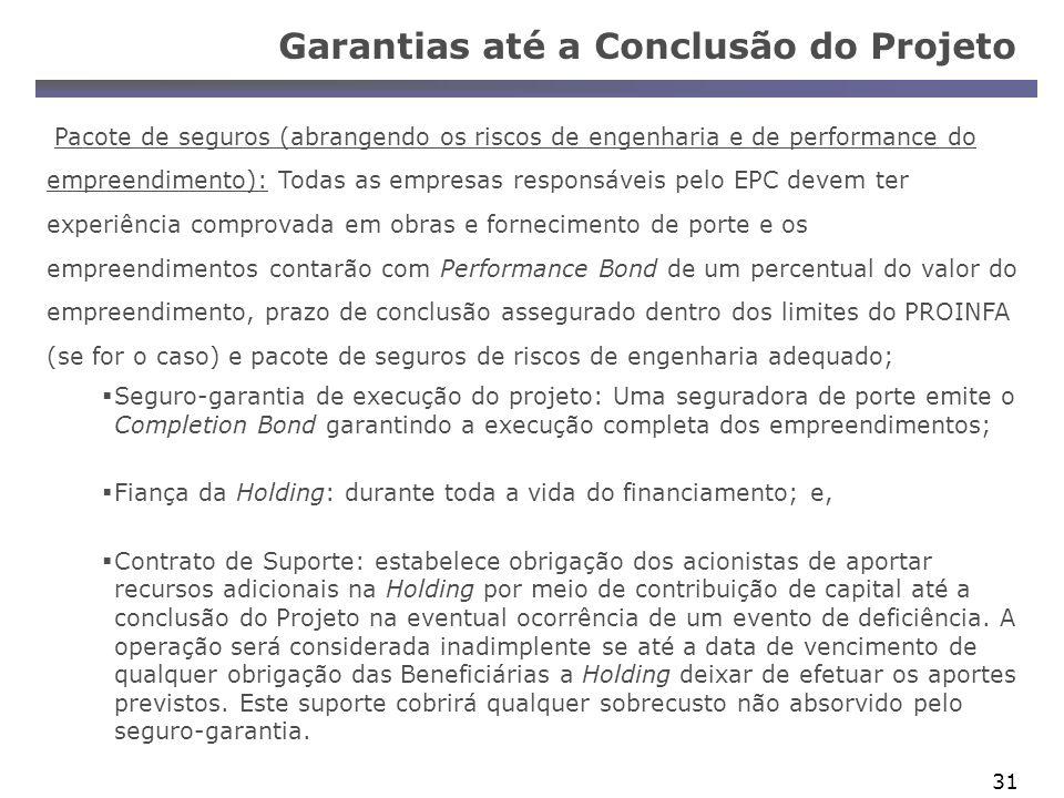 Garantias até a Conclusão do Projeto