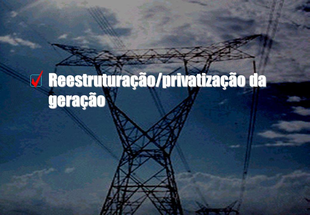 Reestruturação/privatização da geração
