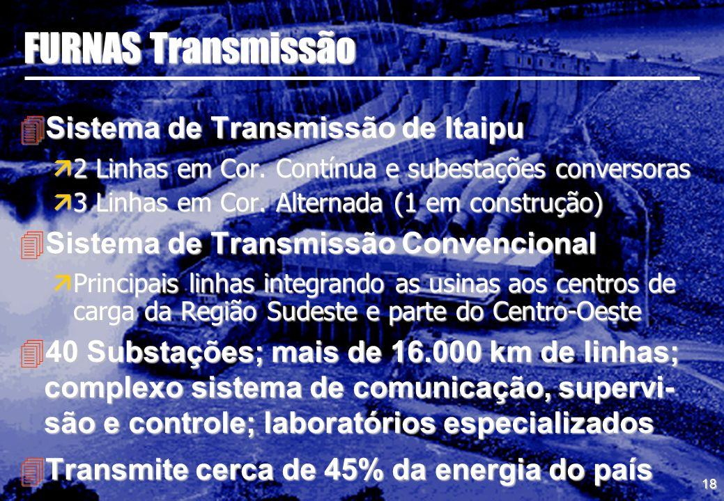 FURNAS Transmissão Sistema de Transmissão de Itaipu
