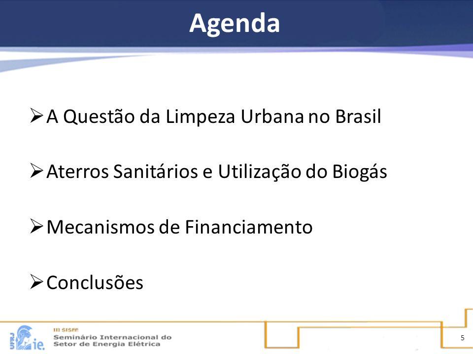 Agenda A Questão da Limpeza Urbana no Brasil