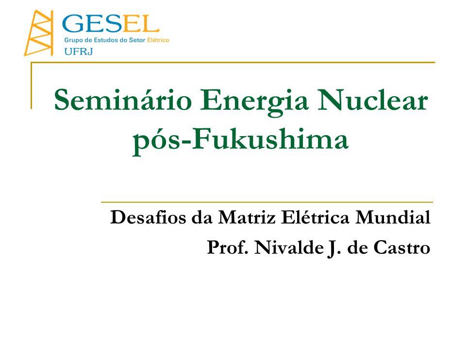Seminário Energia Nuclear pós-Fukushima