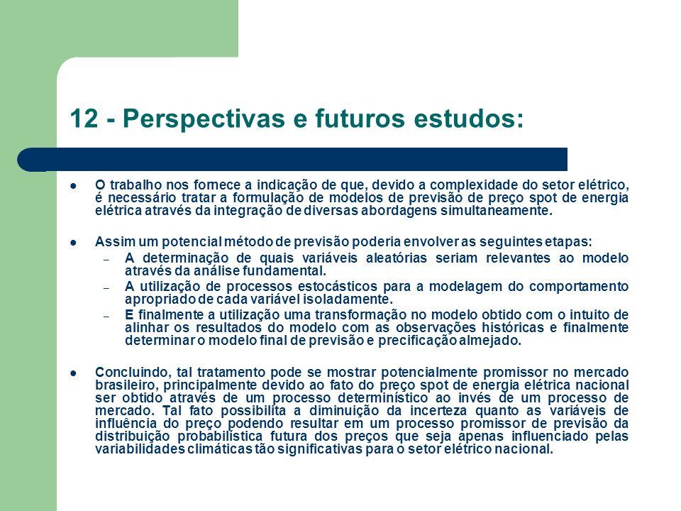 12 - Perspectivas e futuros estudos: