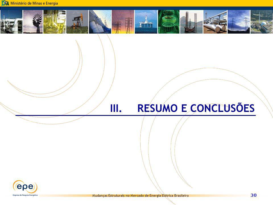 III. RESUMO E CONCLUSÕES