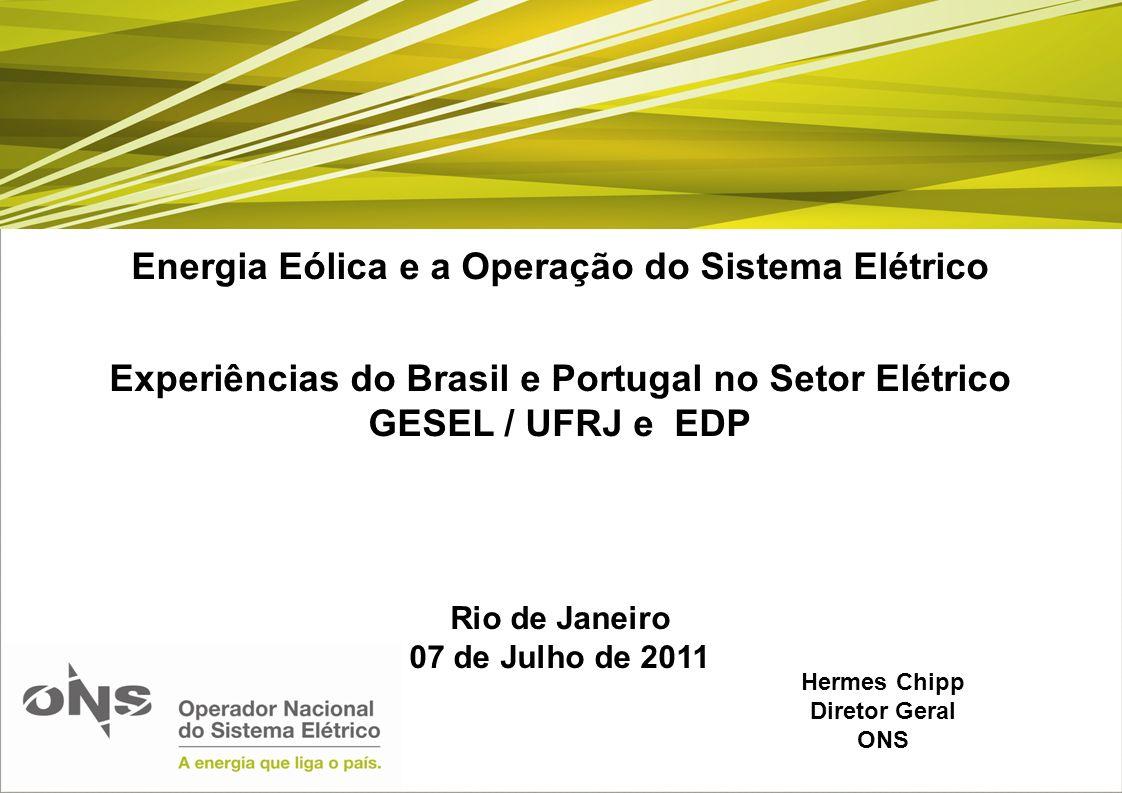 Energia Eólica e a Operação do Sistema Elétrico
