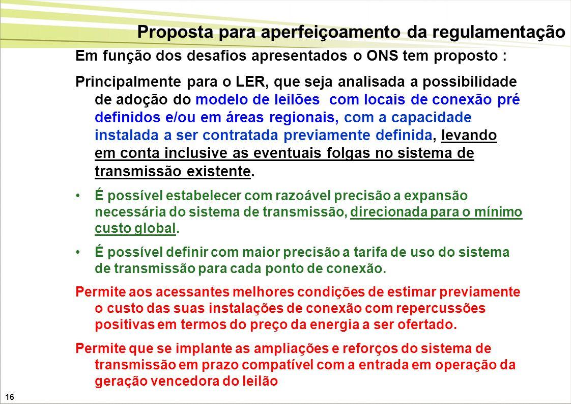 Proposta para aperfeiçoamento da regulamentação