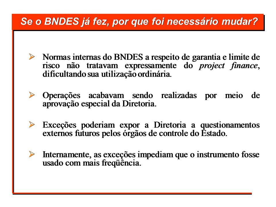Se o BNDES já fez, por que foi necessário mudar