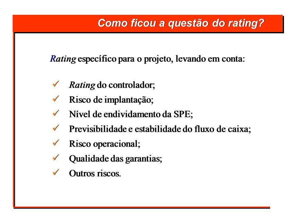 Como ficou a questão do rating