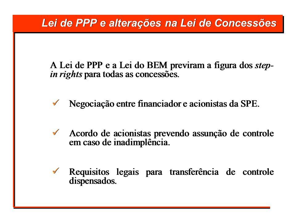 Lei de PPP e alterações na Lei de Concessões