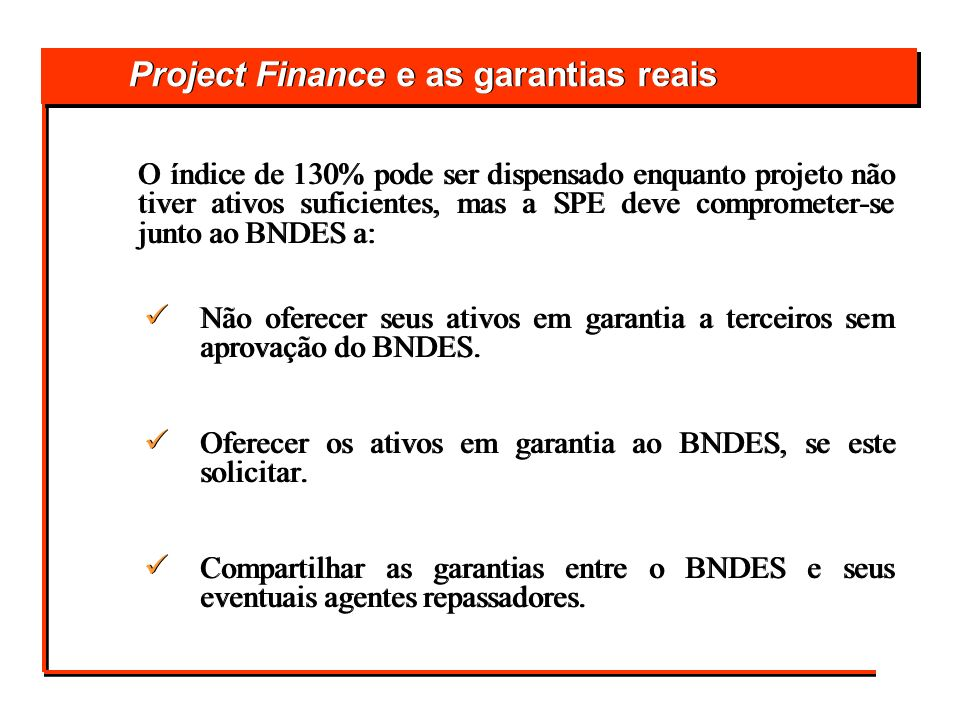 Project Finance e as garantias reais