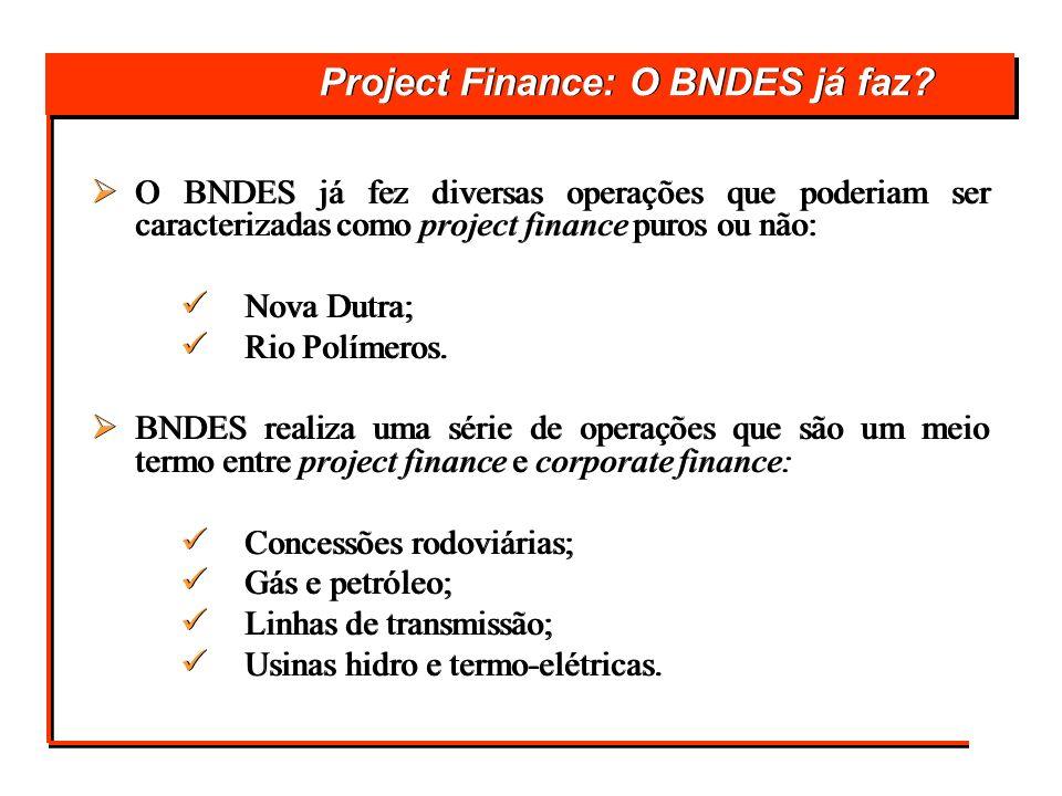 Project Finance: O BNDES já faz