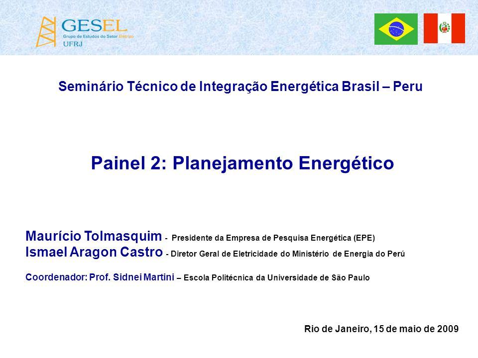 Painel 2: Planejamento Energético