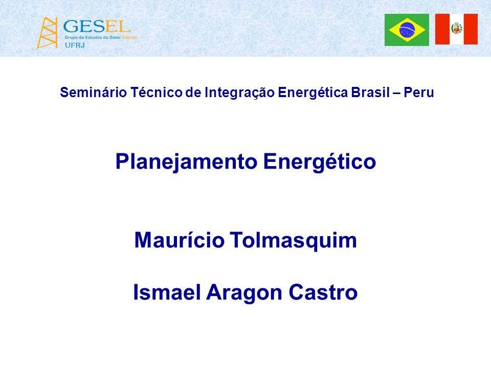 Planejamento Energético Maurício Tolmasquim Ismael Aragon Castro