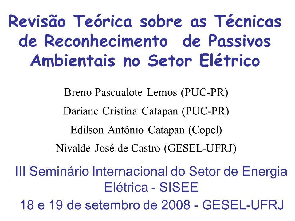 Revisão Teórica sobre as Técnicas de Reconhecimento de Passivos Ambientais no Setor Elétrico