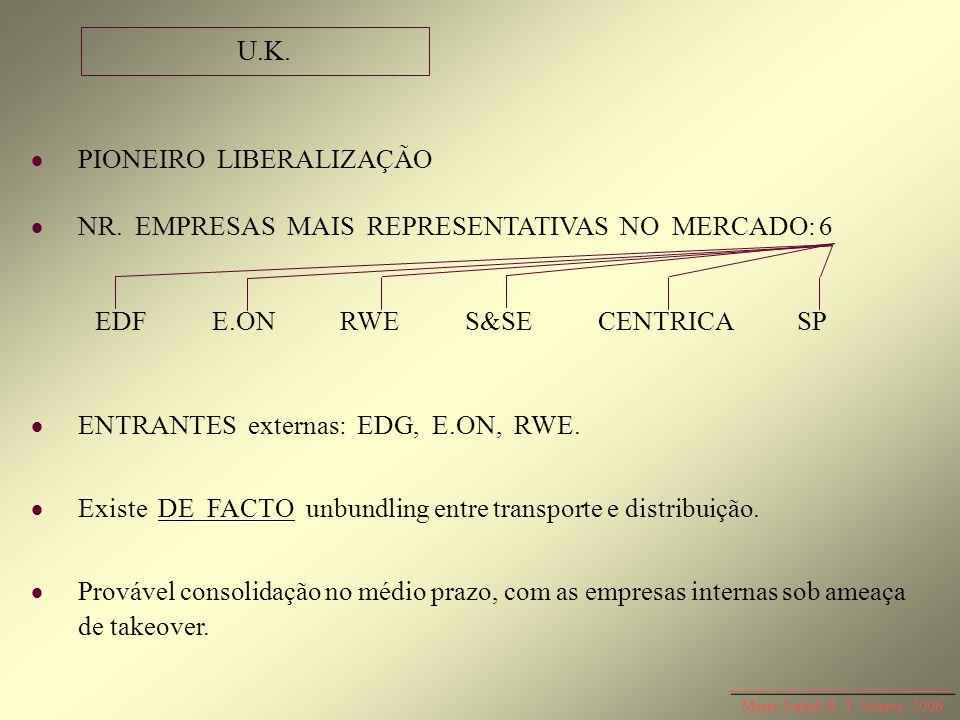 U.K.  PIONEIRO LIBERALIZAÇÃO