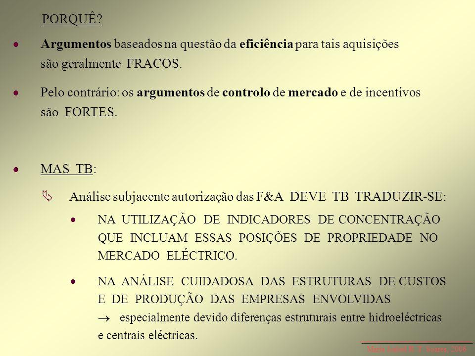  Análise subjacente autorização das F&A DEVE TB TRADUZIR-SE: