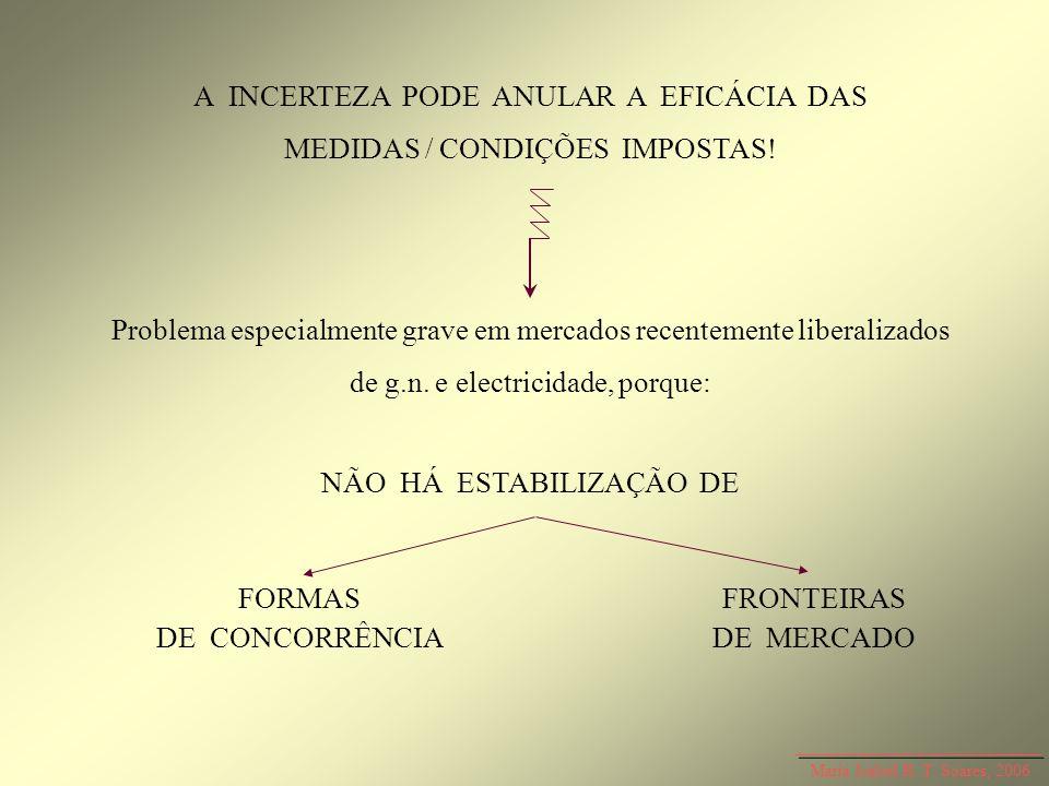 A INCERTEZA PODE ANULAR A EFICÁCIA DAS MEDIDAS / CONDIÇÕES IMPOSTAS!