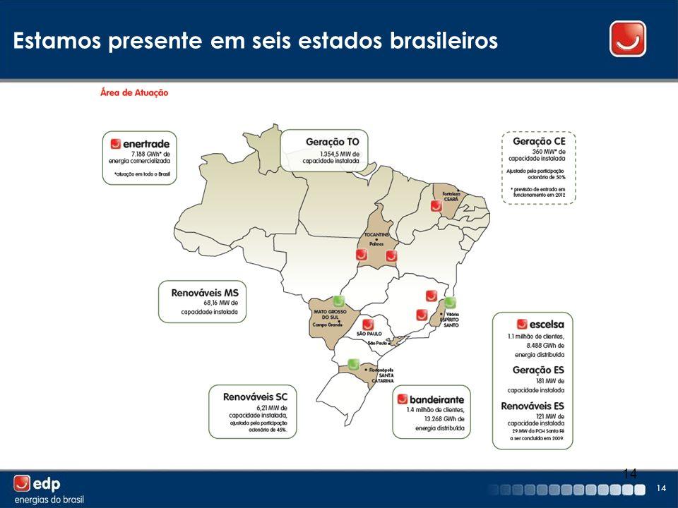 Estamos presente em seis estados brasileiros