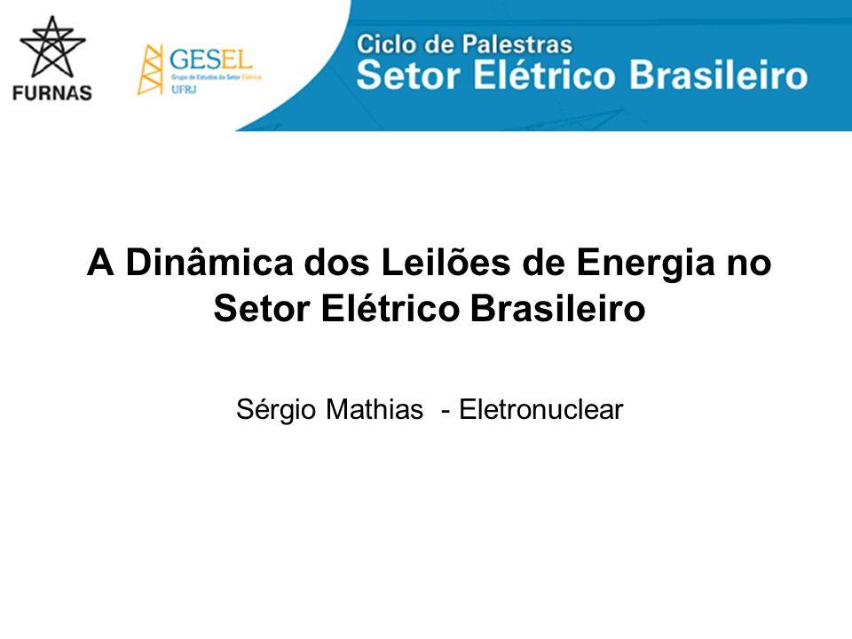 A Dinâmica dos Leilões de Energia no Setor Elétrico Brasileiro
