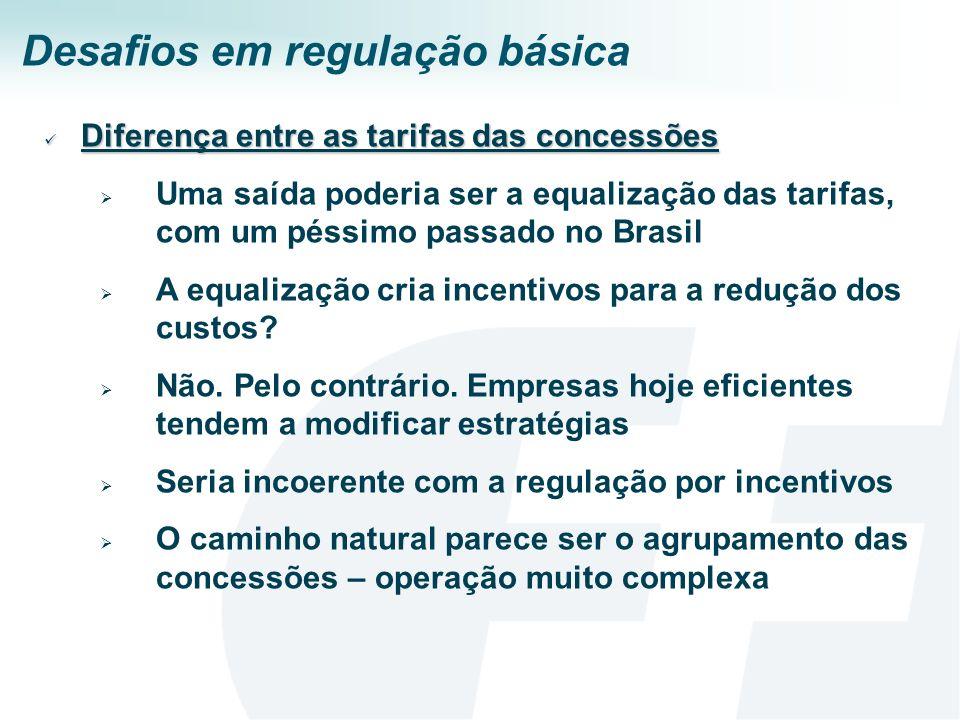 Desafios em regulação básica