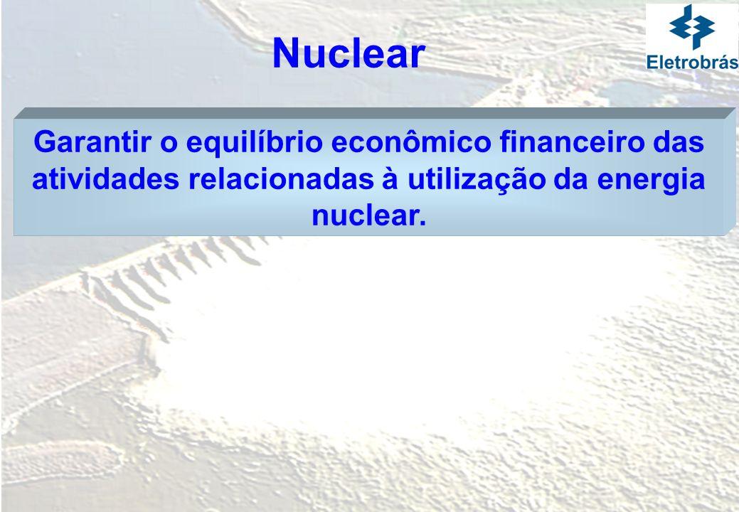 Nuclear Garantir o equilíbrio econômico financeiro das atividades relacionadas à utilização da energia nuclear.