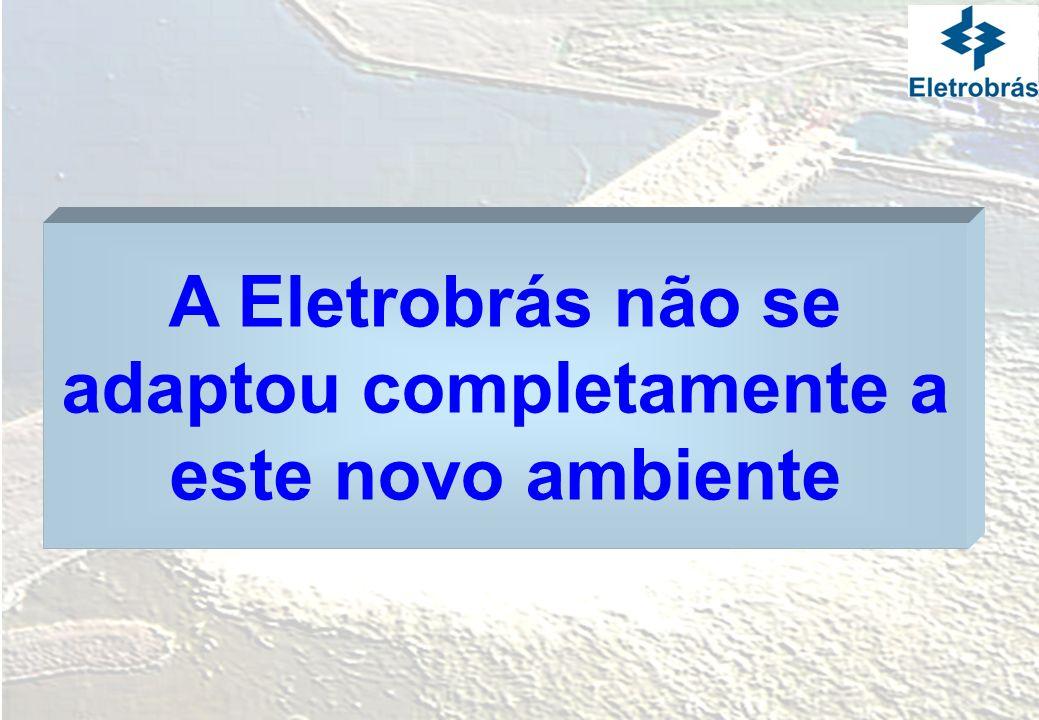 A Eletrobrás não se adaptou completamente a este novo ambiente