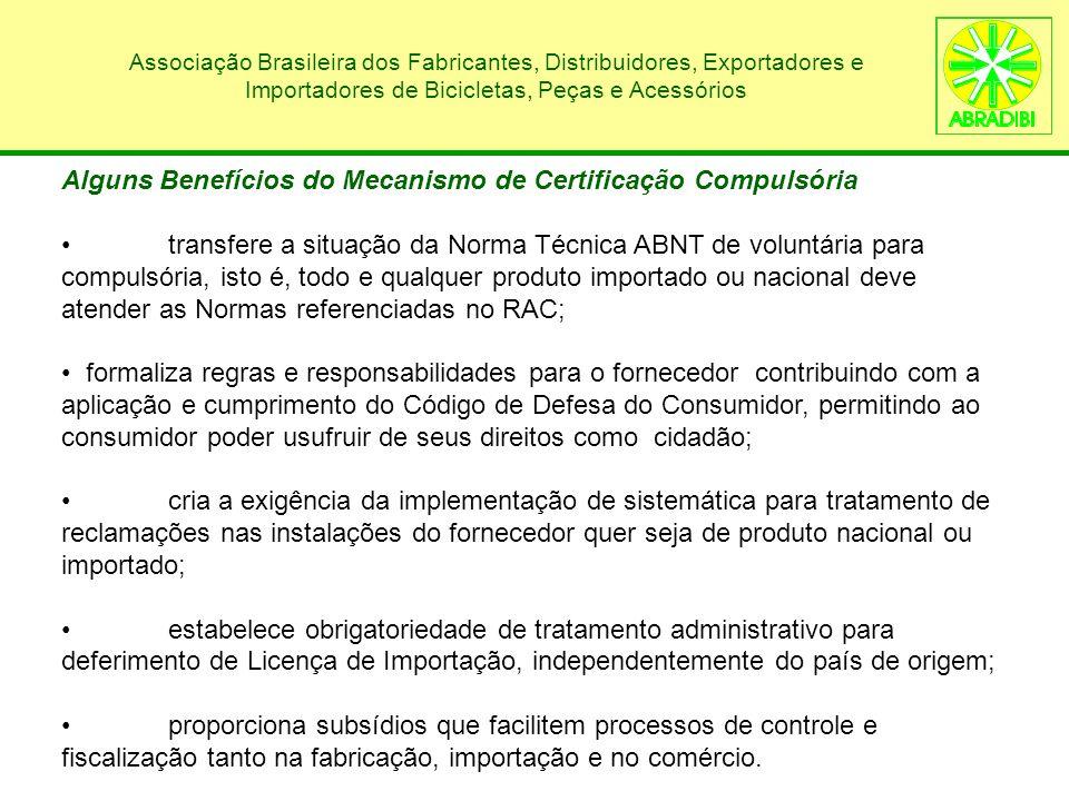 Alguns Benefícios do Mecanismo de Certificação Compulsória
