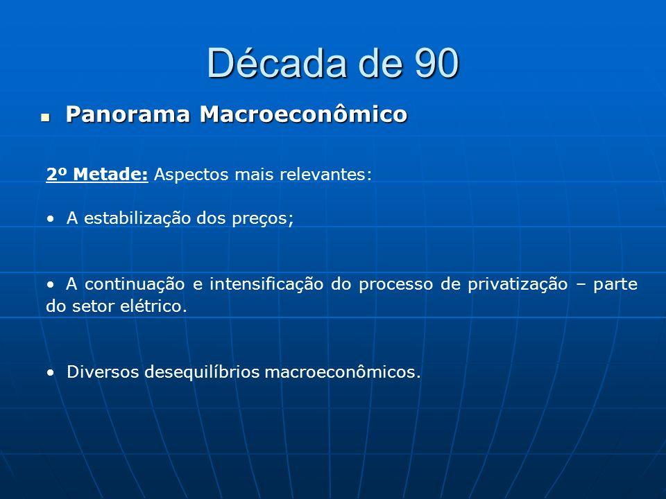Década de 90 Panorama Macroeconômico