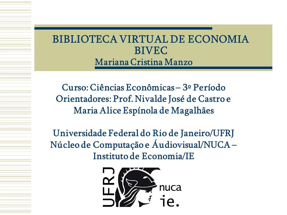 BIBLIOTECA VIRTUAL DE ECONOMIA BIVEC