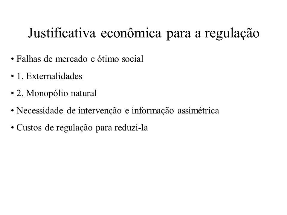 Justificativa econômica para a regulação