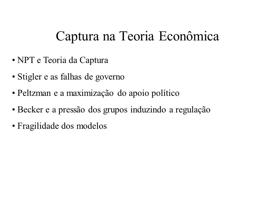 Captura na Teoria Econômica