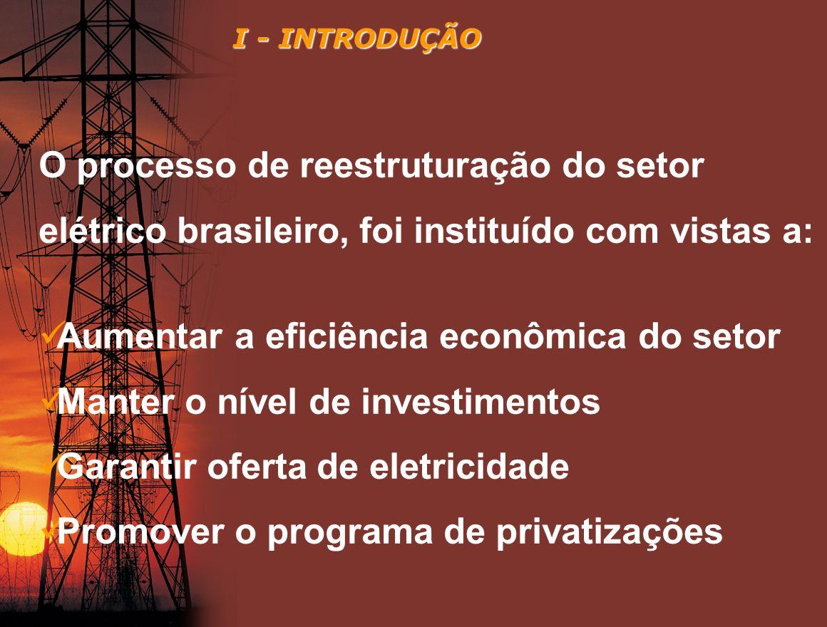 Aumentar a eficiência econômica do setor