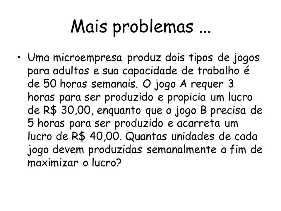 Mais problemas ...