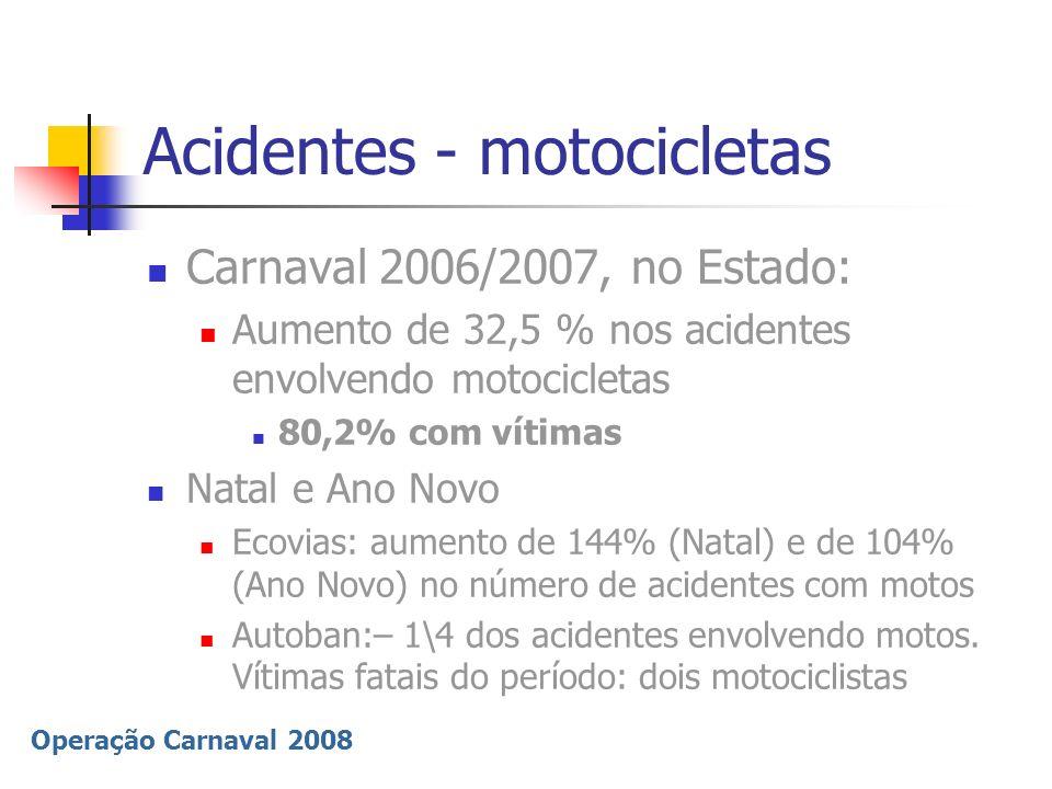 Acidentes - motocicletas