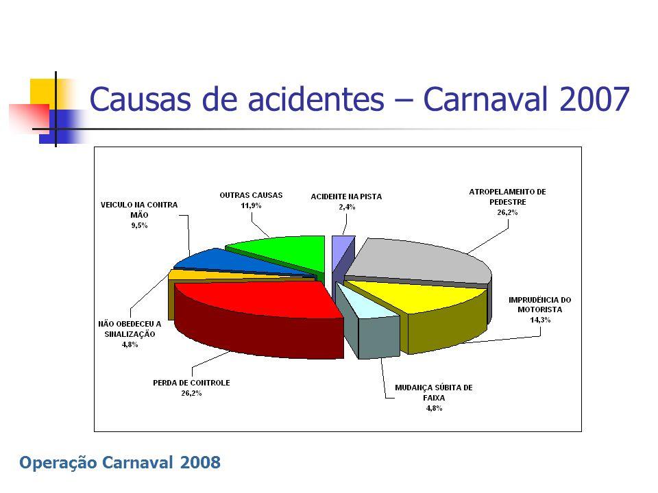 Causas de acidentes – Carnaval 2007
