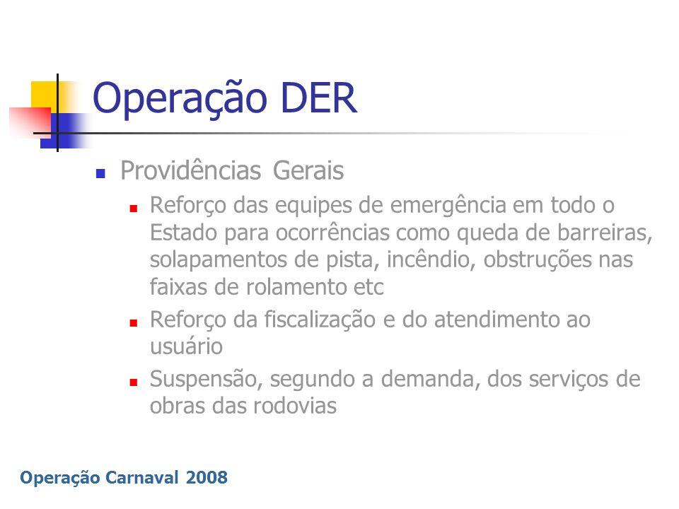 Operação DER Providências Gerais