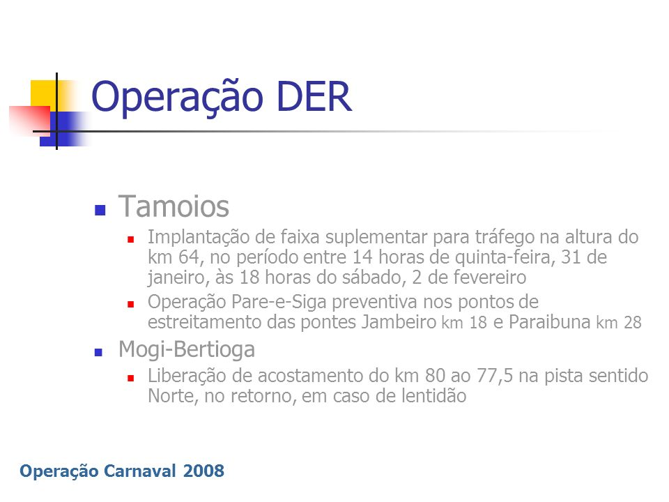 Operação DER Tamoios Mogi-Bertioga