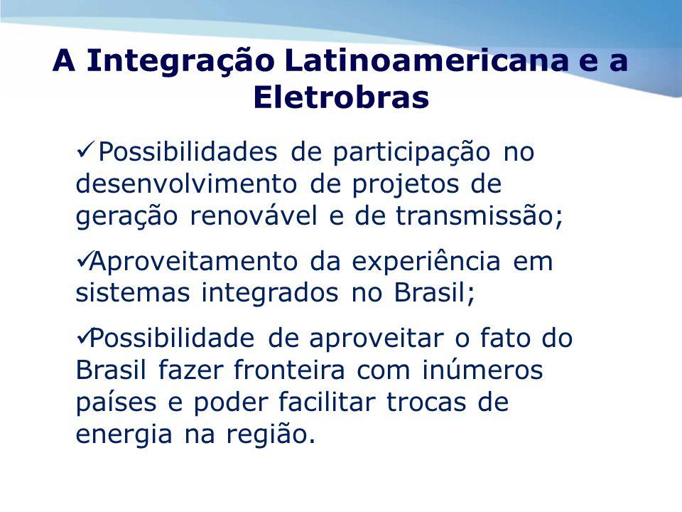 A Integração Latinoamericana e a Eletrobras