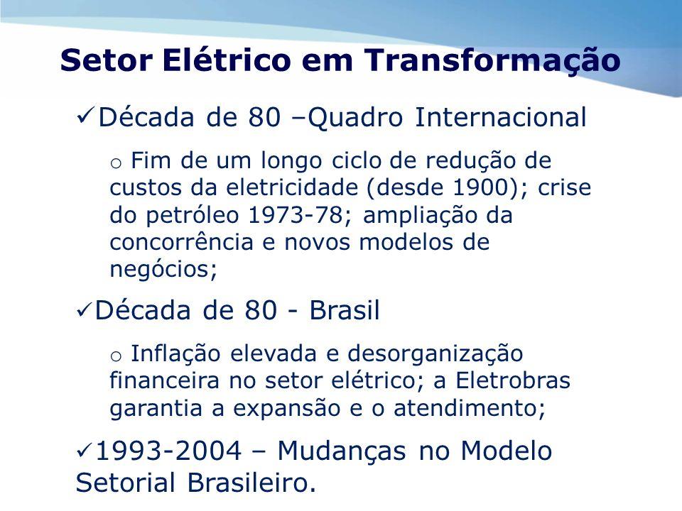 Setor Elétrico em Transformação