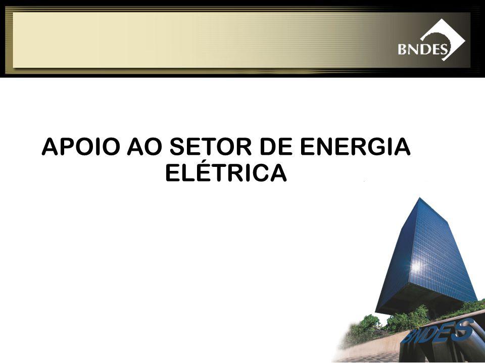 APOIO AO SETOR DE ENERGIA ELÉTRICA