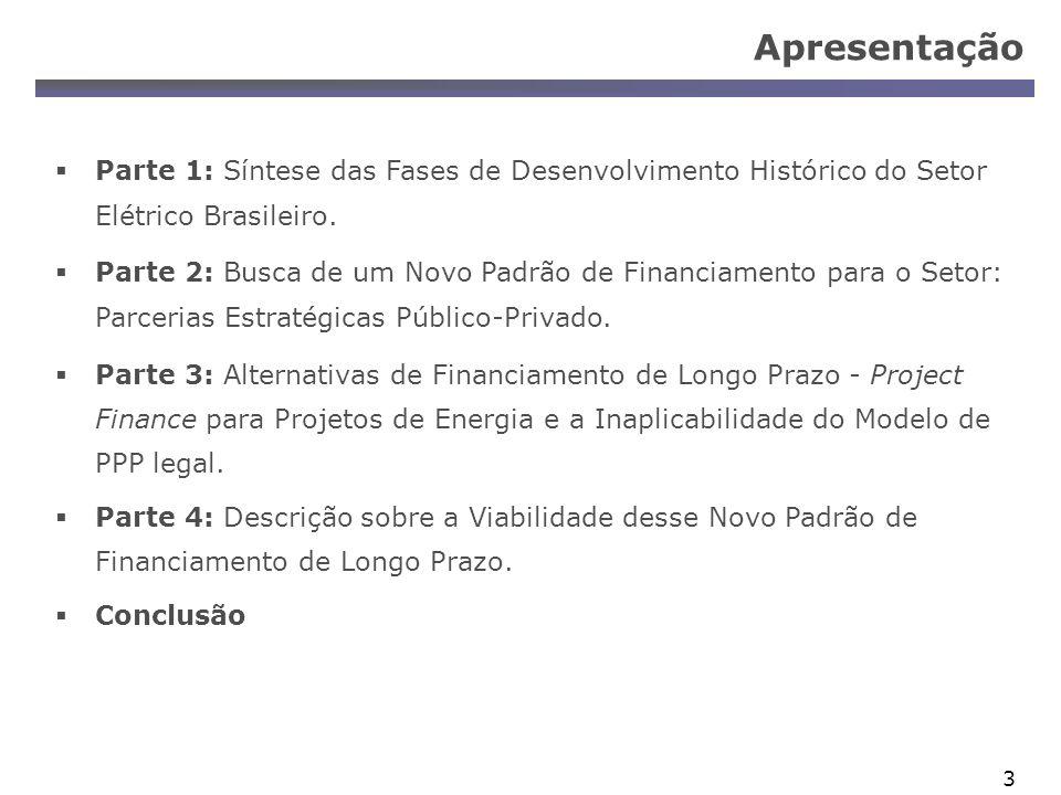 Apresentação Parte 1: Síntese das Fases de Desenvolvimento Histórico do Setor Elétrico Brasileiro.